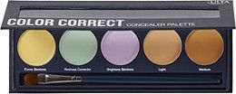 Ulta's Color Correct Concealer Palette features corrective shades that can be used to color correct redness or discoloration, brighten the complexion, and reduce sallowness.