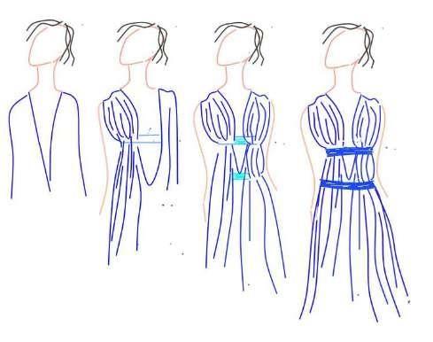 Как сшить платье греческое
