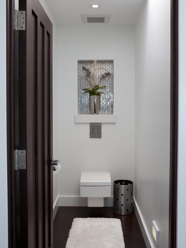 67 best washrooms images on pinterest bathroom bathroom for Modern powder room vanity