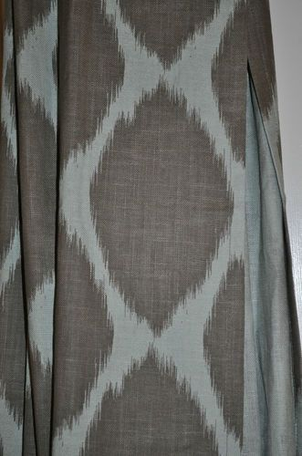 Four west elm ikat ogee curtain panels beautiful ebay