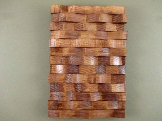 Wall Sculpture, Wooden Wall Hanging, Stained Wall Art