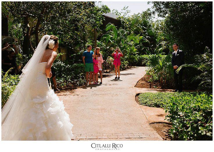 First Look Fairmont Mayakoba Wedding