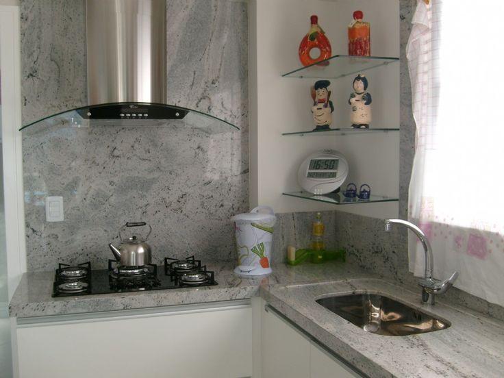 Cozinha - Granito Branco Nepal - Marmoraria Pedra Polida - Brusque SC