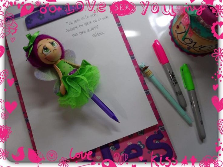 ¡Hada decorativa para bolígrafo  en foamy!  Art Foamy Creative