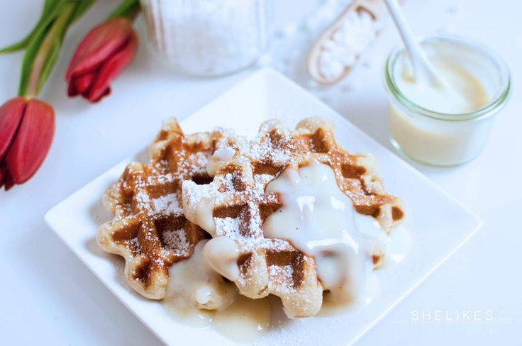 SHELIKES - Lütticher Waffeln & schnelle Vanillesoße aus Puddingpulver #letscooktogether