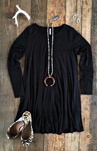 Carolina Dress - Black (Long-Sleeve) – Bungalow 123