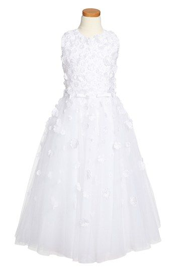 Joan Calabrese for Mon Cheri Communion Dress (Little Girls & Big Girls) available at #Nordstrom
