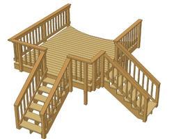 Deck: double entrance