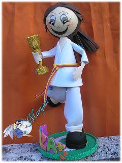 17 best images about fofuchas judo y karate on pinterest - Trabajos en goma eva ...
