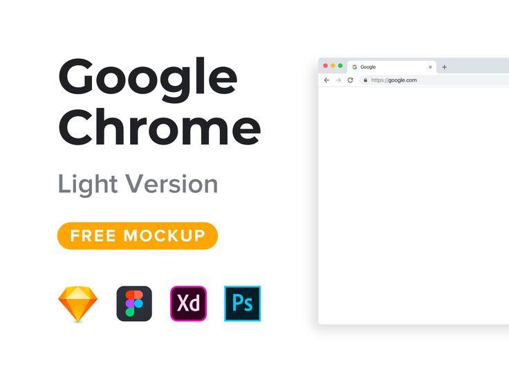 Google Chrome Mockup Freebie Light Version Free Mockup Mockup Iphone Mockup
