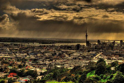 Auckland City. Auckland City from mount Eden. New Zealand