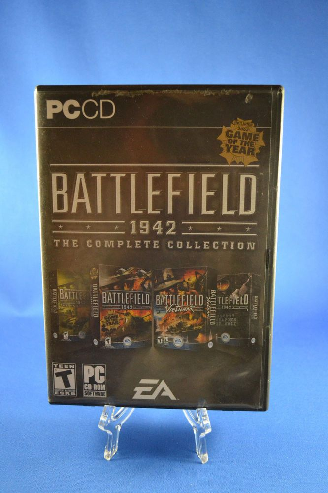 BATTLEFIELD 1942 THE COMPLETE COLLECTION PC 2005 Shooter, T-Teen + Free Shipping