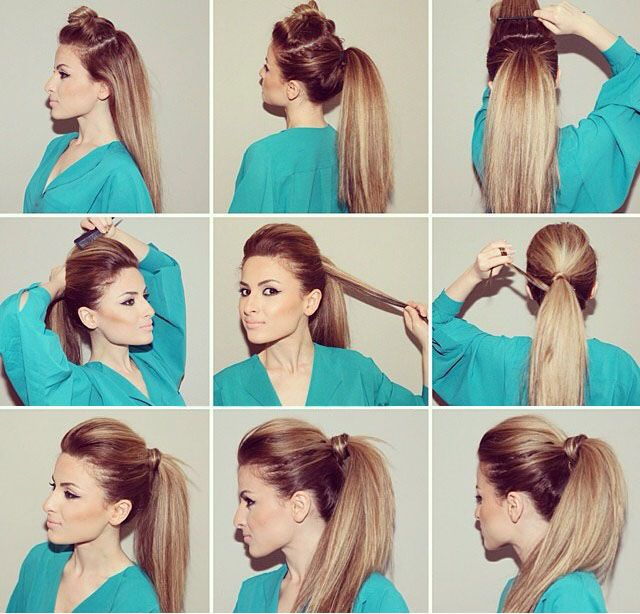Cool 1000 Ideas About Bumped Ponytail On Pinterest Ponytail Tutorial Short Hairstyles Gunalazisus