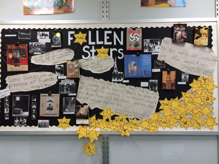 Holocaust bulletin board for 8th grade English