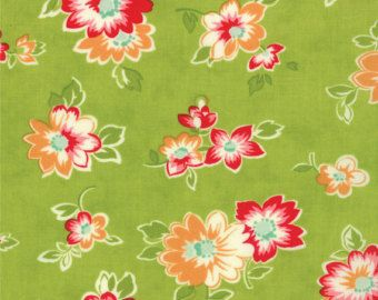 Scrumptious Summer in Lime by Bonnie and Camille for Moda Fabric