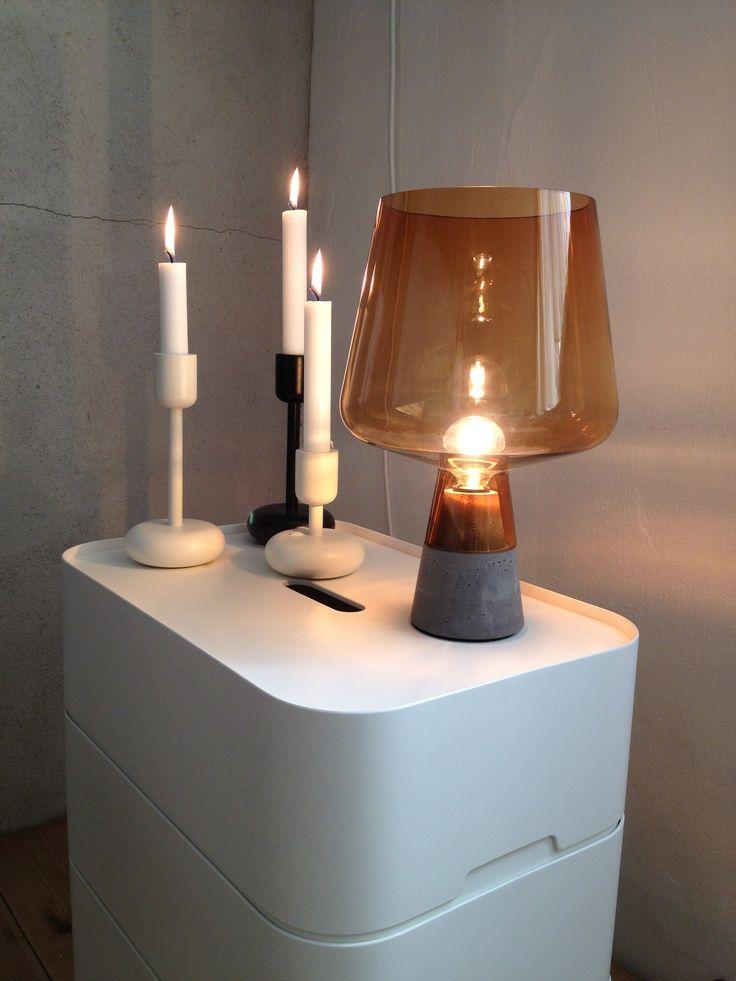 Nappula candleholder, Leimu lamp from Ittala