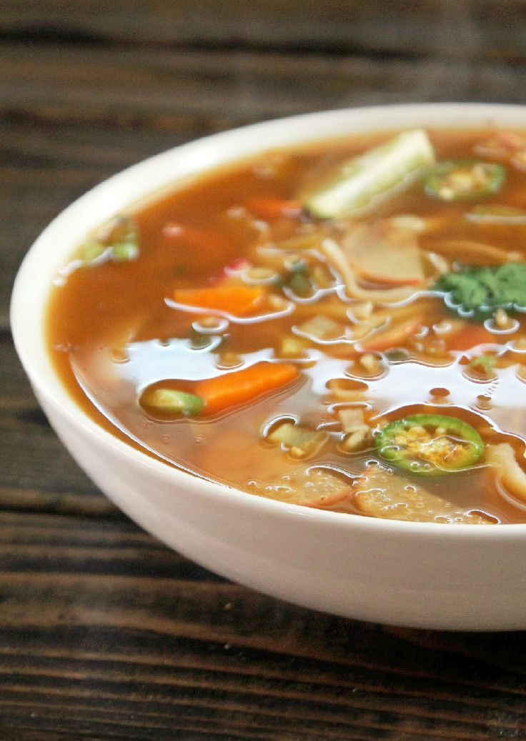 Fat Burning Spicy Thai Noodle Soup~ sort of like the WW 0 points soup but with heat. :o)