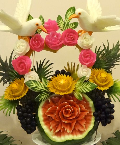 Fruit carving pinterest