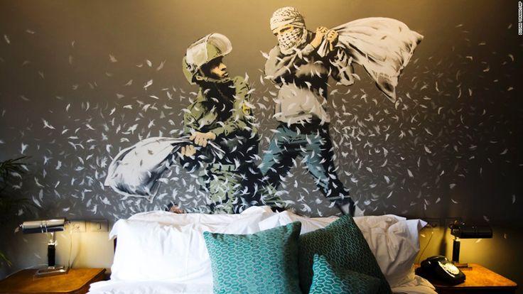 Banksy Hotel in Bethlehem #poppingupdoc #pop #popart #art #artwork #contemporaryart #modernart #realcreativeart #watercolor #urbanart #cores #colores #colors #kunst #photooftheday #lowbrow #lowbrowart   http://bitsmag.com.br/category/vlog/poppingup