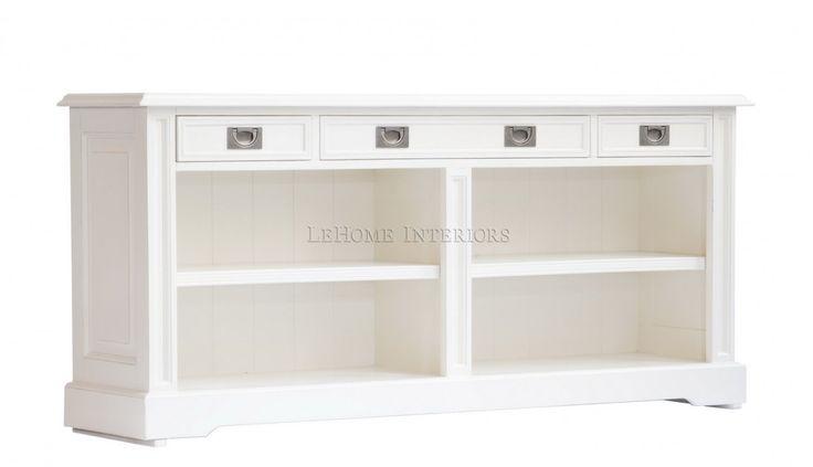Комод Keywest Open Bookcase. Современный открытый шкаф в стиле прованс, выполненный по мотивам  тенденций в дизайне Франции 19 века.  4 выдвижные ящика имеют встроенные механизмы для плавного открывания.