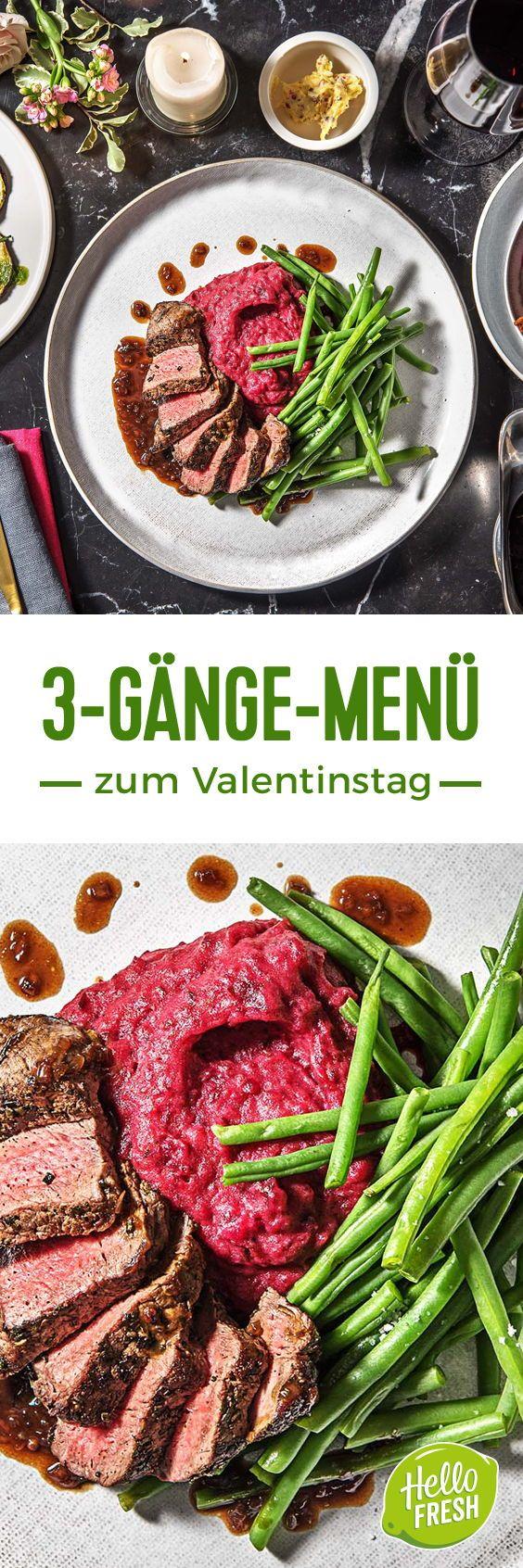 Zum Valentinstag kochen wir ein romantisches 3-Gänge Menü. Valentinstag / Dinn...