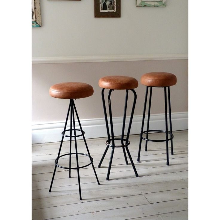 Set of Three Vintage French Cafe / Bar Stools · Bar Stools UkLeather ...  sc 1 st  Pinterest & 26 best stools images on Pinterest | Vintage industrial ... islam-shia.org