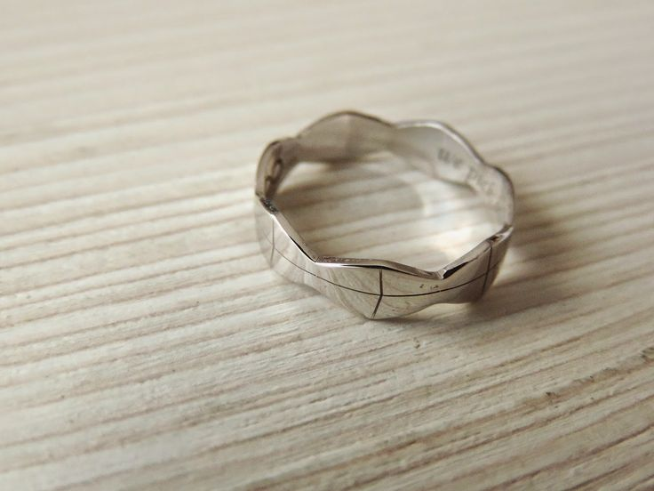 Some kind of cool: malvensky infinity ring inspired by the Infinite Column by Constantin Brancusi