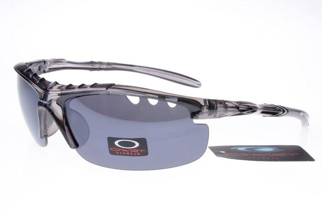 Oakley Womens Sunglasses Black and White Frame Gray Lens 1210 [ok-2235] -