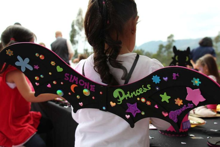 How to train your Dragon birthday party. Costume ideas. Toothless wings. Girly Birthday | CatchMyParty.com