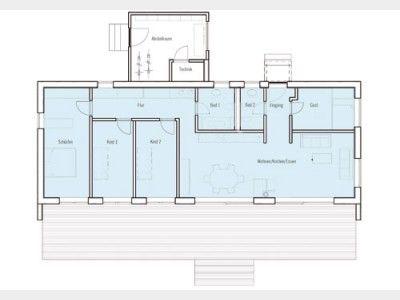Grundriss EG Einfamilienhaus, Bungalow, Moderne