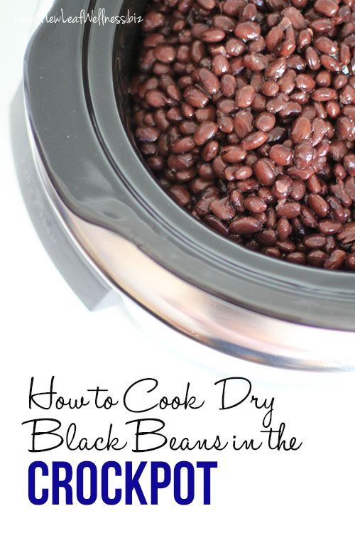 Kelly from New Leaf Wellness shows us how to cook dry black beans in a slow cooker.