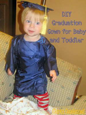 Homemade Graduation Cap and Gown for Baby or Toddler #ClarksCondensed