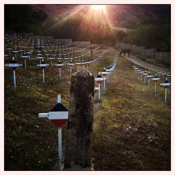 Nikos Economopoulos FYROMacedonia,  Bitola. Bukovski Cemetery. 2013. Cemetery for 1st World War with tombs of 1320 Serbian soldiers.