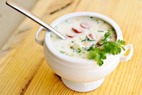 Окрошка на кефире рецепт - холодный суп рецепт, окрошка рецепт :: JV.RU