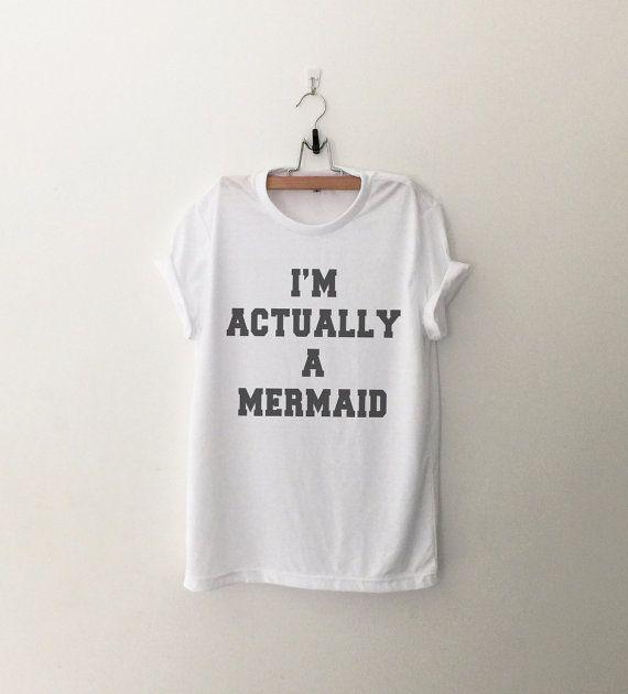 Sirena camicia Funny camicie t-shirt citare camicia Tumblr