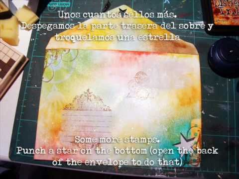 Mail art....decorating envelopes....  video tutorial.