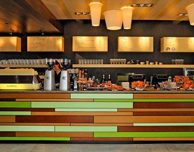 sconce colorful cashier lights espresso bar bar bar counter