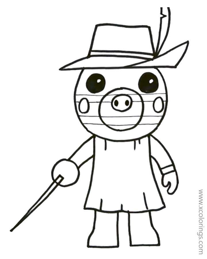 Piggy Roblox Zizzy Coloring Pages Coloring Pages Piggy Roblox