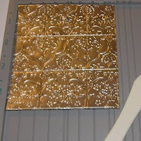 Faux Tin Tile Tutorial (with aluminum foil) oh it's on now!