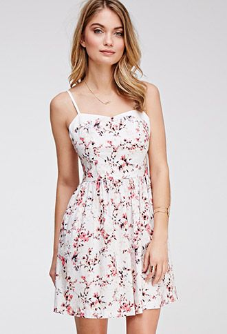 Watercolor Floral Cami Sundress | Forever 21 - 2000098002