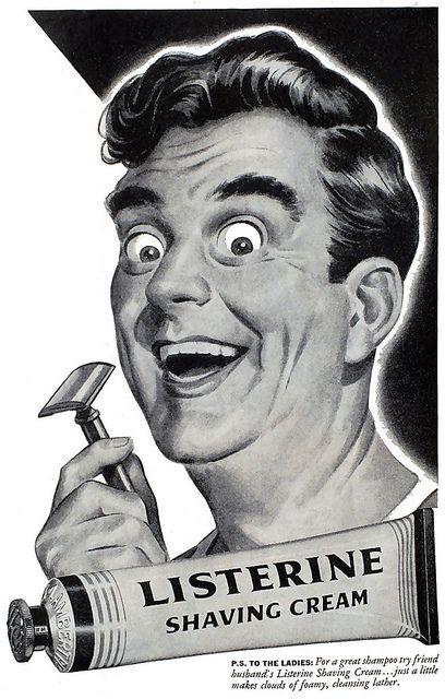 Listerine Shaving Cream (1944).