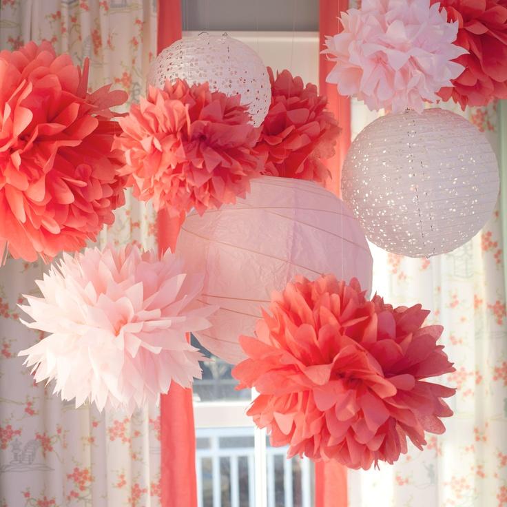 75 best little girl nursery ideas images on pinterest for Pom pom room decor