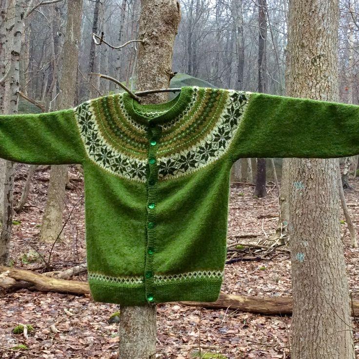 Nancy kofte - Sandnes Knitted in Drops alpaca yarn M.M. Johansen