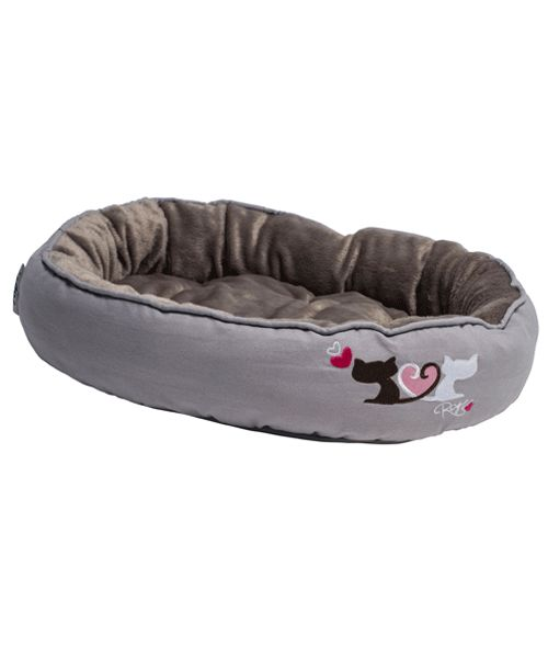 ROGZ SNUG PODZ - HEART TAILS (CAT BED). Available from www.nuzzle.co.za