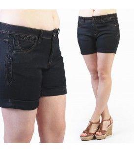 Short très tendance avec des strass sur les deux côtés. Ce modèle est disponible en grande taille de la taille 42 à la taille 50, pour un prix unique de 19,99€.  #Fashionista #HollyMode #RondeEtSexy #short #grande #taille #noir