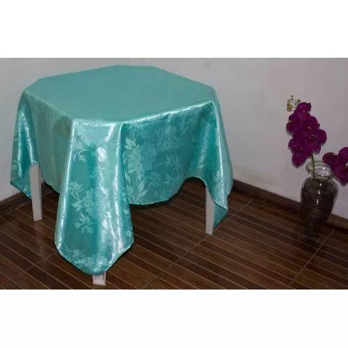 Kit 5 Toalhas De Mesa Cetim Jacquard Floral 150x150 - R$ 74,90