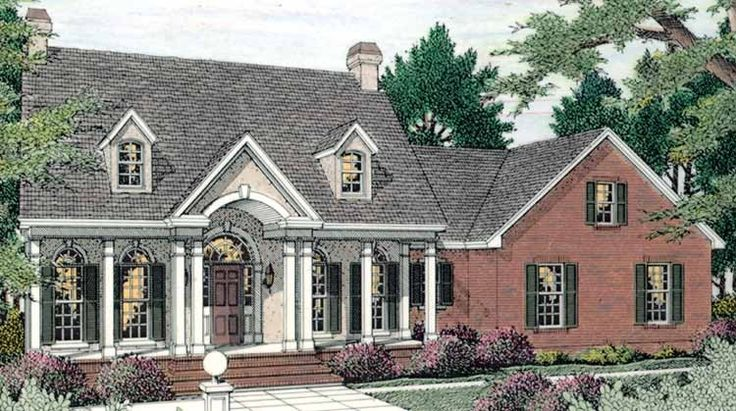 Eplans adam federal house plan lovely family home for Adam federal house plans