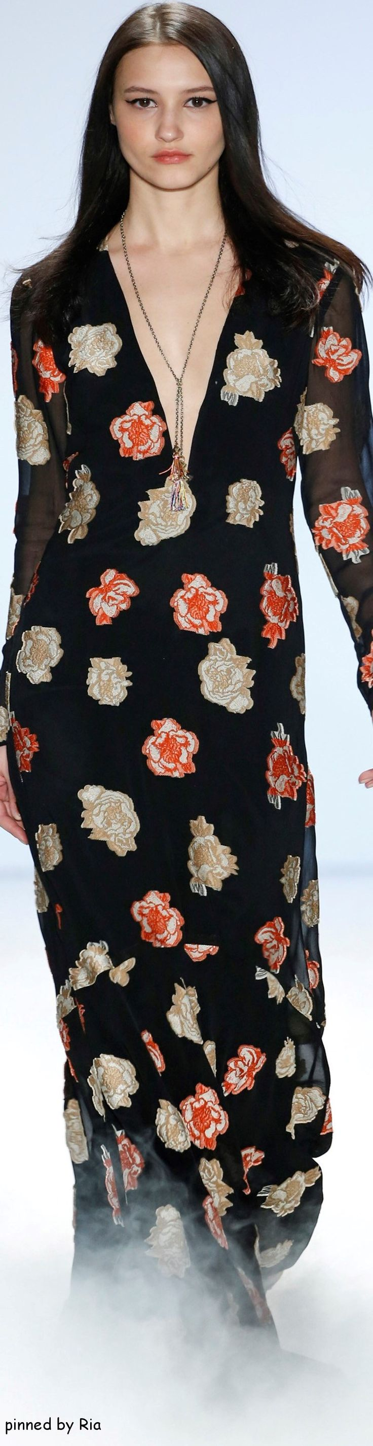 women fashion outfit clothing style apparel @roressclothes closet ideas Nicole Miller Fall 2016 RTW l Ria