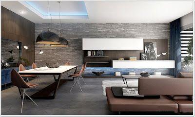 moderne stue inspirasjon