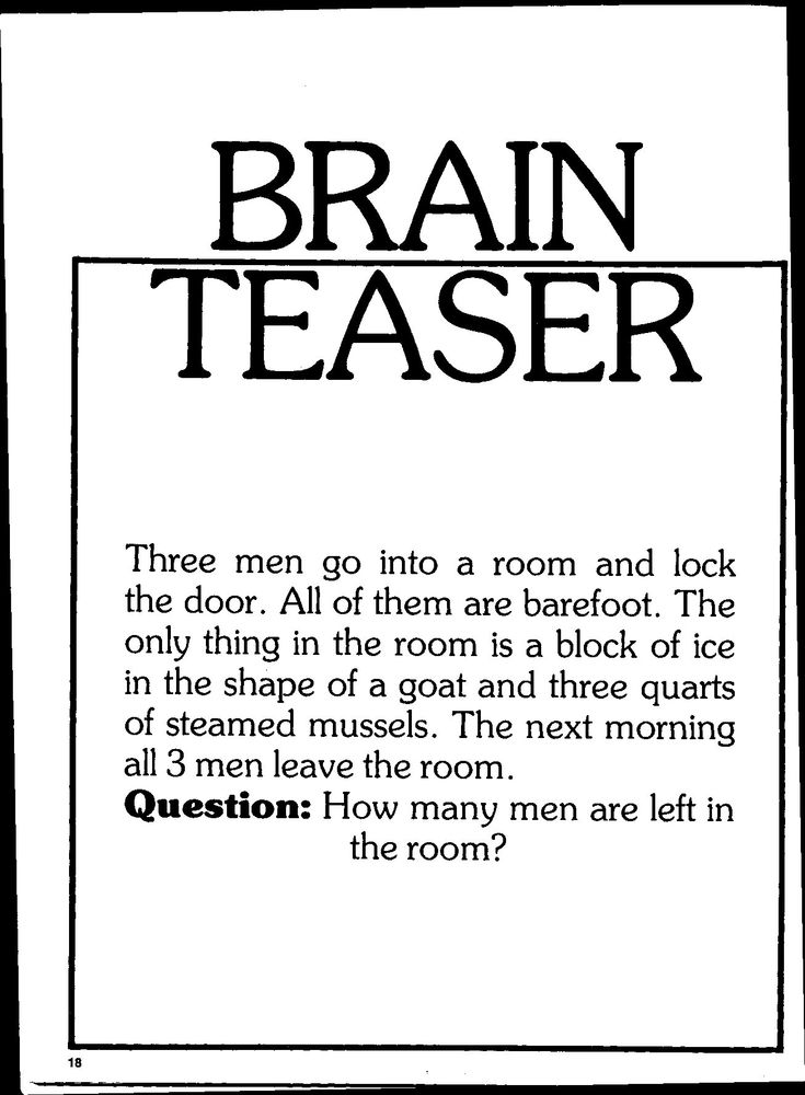 88 best images about Riddles with ;-) Answers & brain ...
